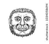 doodle art illustration of head ... | Shutterstock .eps vector #1034058694