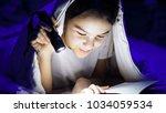 closeup image of teenage girl... | Shutterstock . vector #1034059534