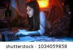 portrait of teenage girl in... | Shutterstock . vector #1034059858
