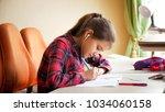 portrait of teenage girl...   Shutterstock . vector #1034060158