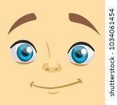 cute cartoon boy face avatar.... | Shutterstock .eps vector #1034061454