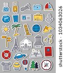 set of travel doodles | Shutterstock .eps vector #1034063026