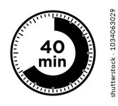 set of timers   forty minutes ... | Shutterstock .eps vector #1034063029