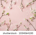 spring floral background ... | Shutterstock . vector #1034064100