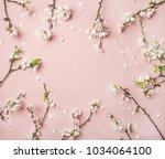 spring floral background ... | Shutterstock . vector #1034064100