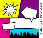 cartoon funny vintage strip... | Shutterstock .eps vector #1034064568