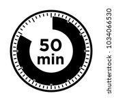 set of timers   fifty minutes ... | Shutterstock .eps vector #1034066530