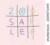 20  off sale logo lettering as... | Shutterstock .eps vector #1034071444