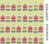 vector seamless pattern with... | Shutterstock .eps vector #1034074939