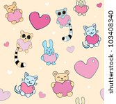 lovely cartoon seamless... | Shutterstock .eps vector #103408340