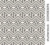 vector seamless lattice pattern.... | Shutterstock .eps vector #1034083696