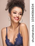 beauty portrait of young... | Shutterstock . vector #1034086834
