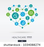 healthcare  integrated thin... | Shutterstock .eps vector #1034088274