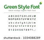 universal font. organic nature... | Shutterstock .eps vector #1034088289