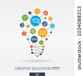 education integrated thin line... | Shutterstock .eps vector #1034088313