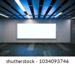 billboard banner signage mock...   Shutterstock . vector #1034093746