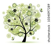 colorful trees vector    Shutterstock .eps vector #1034097289
