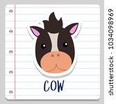 cow notebook school vector art... | Shutterstock .eps vector #1034098969