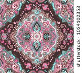 indian rug paisley ornament...   Shutterstock .eps vector #1034102353