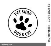 pet shop vector icon logo   Shutterstock .eps vector #1034102563