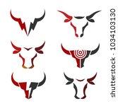 Buffalo Head Logo  Abstract...