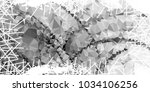 mosaic abstract background with ... | Shutterstock .eps vector #1034106256