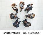 top view of business team...   Shutterstock . vector #1034106856