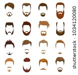 beards vector portraite of... | Shutterstock .eps vector #1034120080