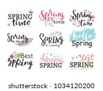 hello spring time vector... | Shutterstock .eps vector #1034120200