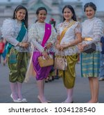 editorial use only  thai ladies ... | Shutterstock . vector #1034128540