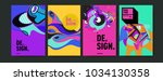 abstract colorful collage... | Shutterstock .eps vector #1034130358