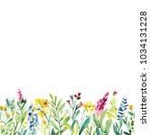 watercolor spring flowers... | Shutterstock . vector #1034131228