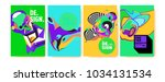 abstract colorful collage... | Shutterstock .eps vector #1034131534