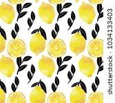 pattern image using lemon... | Shutterstock . vector #1034133403