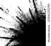grunge halftone black and white ... | Shutterstock . vector #1034135290