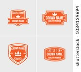 crown vintage logotype concept... | Shutterstock .eps vector #1034139694