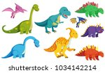 different types of dinosaurs on ... | Shutterstock .eps vector #1034142214