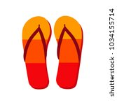 colorful flip flops icon... | Shutterstock .eps vector #1034155714