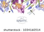 vector vintage botanical border ... | Shutterstock .eps vector #1034160514