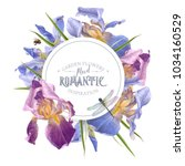 vector vintage botanical banner ... | Shutterstock .eps vector #1034160529