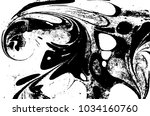 black and white liquid texture. ... | Shutterstock .eps vector #1034160760