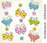 Stock vector background with butterfly vector illustration 103416263