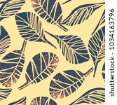 seamless pattern with hand... | Shutterstock .eps vector #1034163796