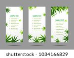 manu frame formed with hemp ... | Shutterstock .eps vector #1034166829