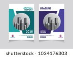 annual report  pamphlet ... | Shutterstock .eps vector #1034176303