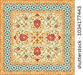 oriental rug  ornate ornamental ... | Shutterstock .eps vector #1034177443