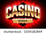 casino welcome bonus banner ... | Shutterstock .eps vector #1034182849
