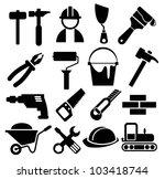 black vector construction icon... | Shutterstock .eps vector #103418744