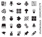 solid black vector icon set  ... | Shutterstock .eps vector #1034195179