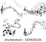 musical designs sets with... | Shutterstock .eps vector #103420106